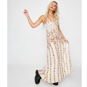 NEW Free People Claire Printed Maxi Dress Small